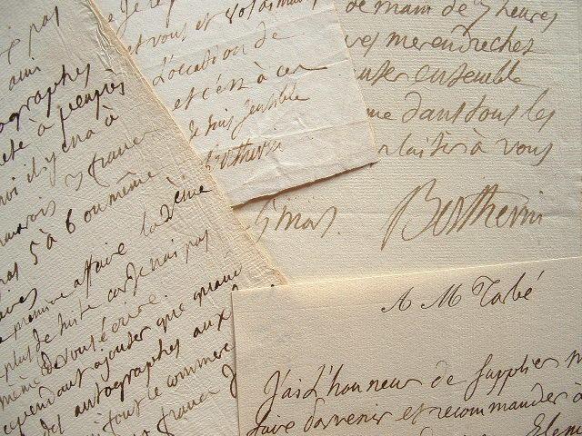 Berthevin, pionnier dans la collection d'autographes.. Jules Gabriel Berthevin (1769-0) Autographile, littérateur, conservateur de l'Imprimerie ...