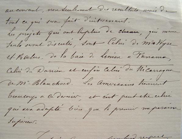 Le canal de Panama en projet.. Edmond Dessirier (1842-1906) Général de division, gouverneur militaire de Paris.
