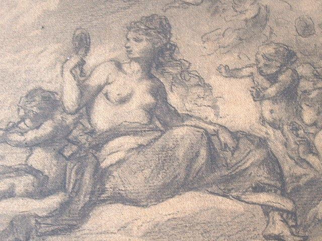 L'Olympe dessiné par Célestin Nanteuil.. Célestin Nanteuil (1813-1873) Peintre, dessinateur et lithographe. Elève de Langlois. Il fréquente aussi ...