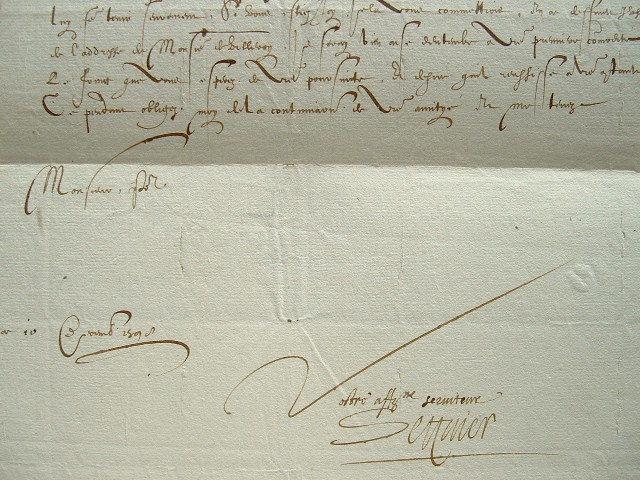 L'ambassadeur d'Henri IV donne des nouvelles de Venise.. Antoine Séguier (1552-1624) Ambassadeur d'Henri IV à Venise.