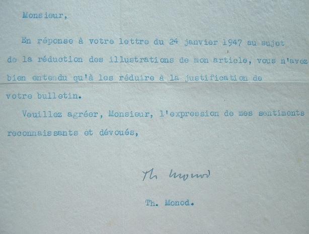 Théodore Monod accepte la réduction d'un article.. Théodore Monod (1902-2000) Explorateur et écologiste.