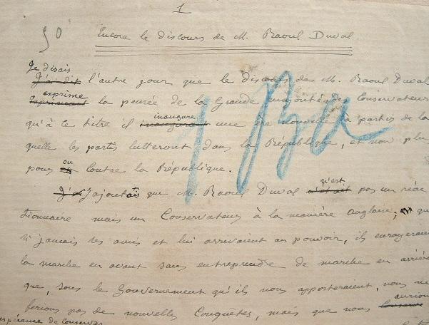 Alfred Naquet sans concession pour Raoul Duval.. Alfred Naquet (1834-1916) Homme politique et médecin. Fervent boulangiste.