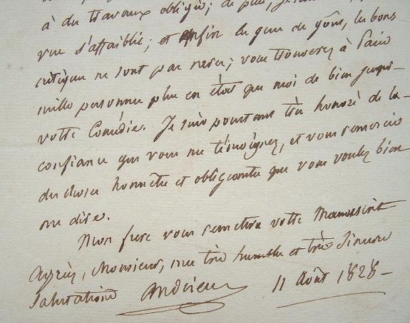 Le poète Andrieux refuse la lecture d'une comédie.. François Guillaume Jean Stanislas Andrieux (1759-1833) Poète, tragédien, secrétaire perpétuel de ...