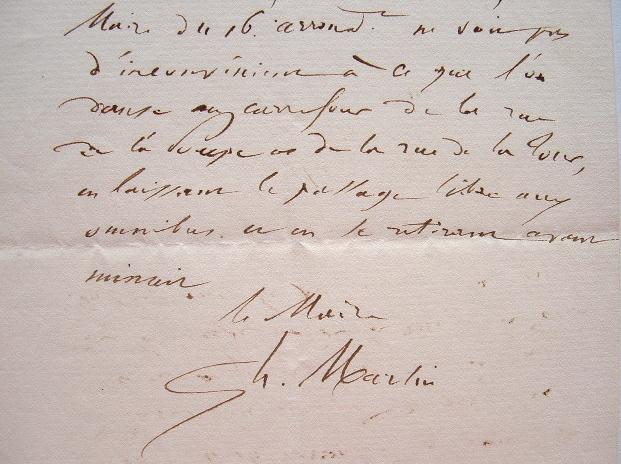 Henri Martin autorise une fête de quartier à Paris.. Henri Martin (1810-1883) Historien et homme politique, académicien (1878), député et sénateur de ...