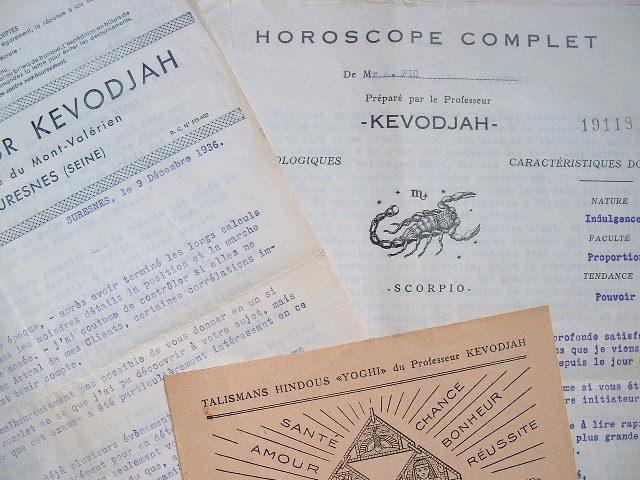 Horoscope du professeur Kevodjah..