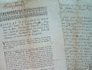 Réquisition de ceinturons et hallebardes au diocèse de Nîmes..