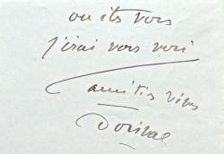 Georges Dorival recommande Madeleine Mory chez Pathé. 1928.. Edouard Lemarchand (1871-1939) Comédien, sociétaire de la Comédie française.