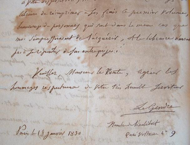 Le mathématicien Legendre intéressé par un ouvrage de statistiques.. Adrien Marie Legendre (1752-1833) Mathématicien, il énonce, en 1798, la loi de ...