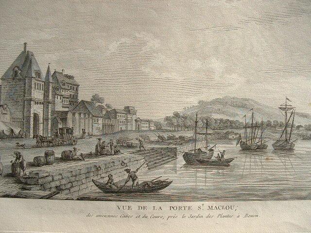 Vues animées de Rouen au début du XIXe..