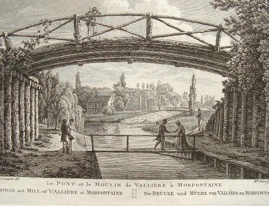 Vues des jardins de Mortefontaine (Oise)..