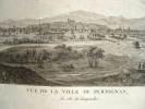 Série de vues animées de Perpignan au début du XIXe..