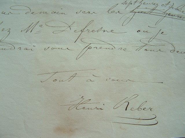 Correspondance du compositeur Henri Reber.. Henri Reber (1807-1880) Compositeur.