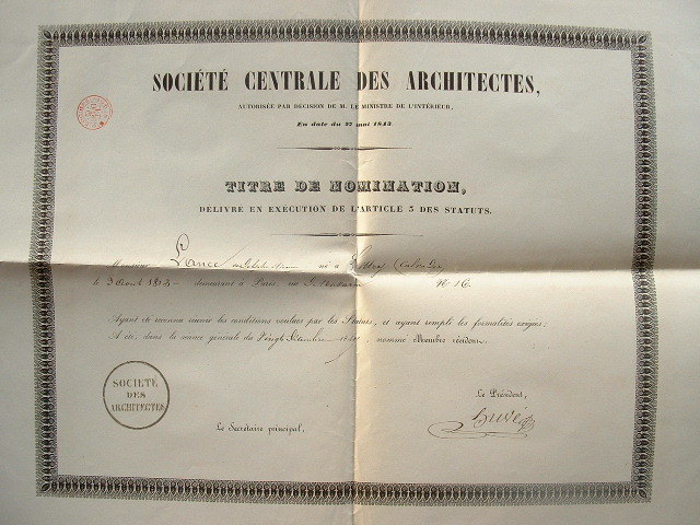 La Société des Architectes accueille un nouveau membre.. Jean-Jacques Huv? (1783-1852) Architecte. Il conduit les travaux de l'église de La Madeleine ...