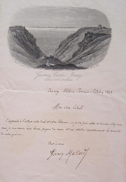 Firmin Maillard écrit à un escrimeur blessé.. Firmin Maillard (1833-1901) Journaliste. Auteur d'ouvrages historiques, dont le Gibet de Montfaucon, en ...