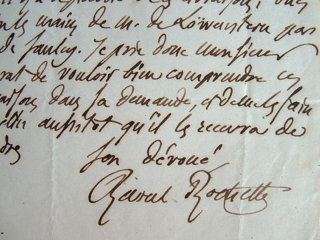 Raoul Rochette se fait envoyer un livre sur Layard.. Raoul Rochette (1789-1854) Archéologue. Secrétaire perpétuel de l'académie des Beaux-Arts (1838). ...