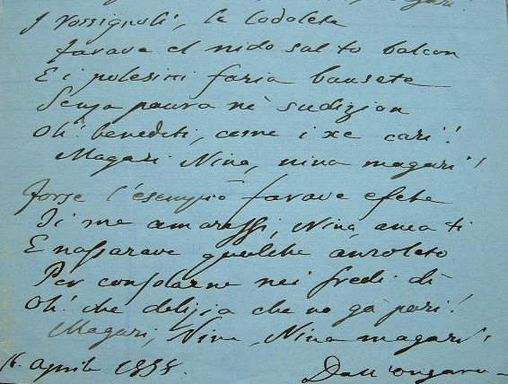 Poème de Francesco Dall' Ongaro.. Francesco Ongaro (Dall') (1808-1873) Ecrivain et homme politique italien. Fondateur du journal Des actes et non des ...
