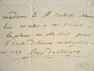Louis d'Antraigues écrit à Saint-Huberti.. Louis Antraigues (comte d') (1753-1812) Député, auteur du mémoire sur les états généraux, leurs droits et ...