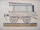 Dessin d'un wagon à minerai des années 1830..