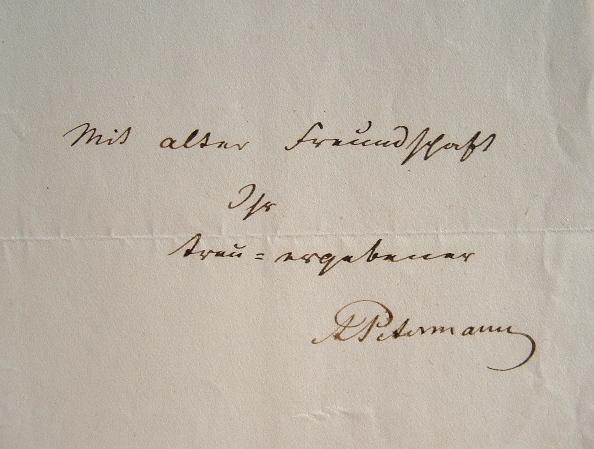 Le géographe Petermann invite un ami à déjeuner.. Auguste Henri Petermann (1822-1878) Géographe. Habile dessinateur, il travaille à l'Atlas de ...