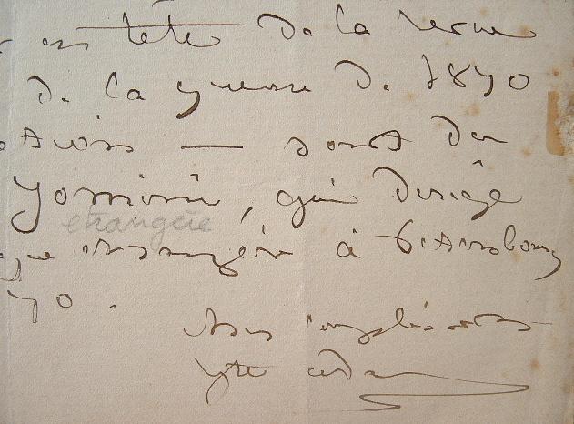 Juliette Adam envoie un écrit d'Alexandre Jomini.. Juliette Adam (1836-1936) Femme de lettres et salonnière. Elle publie, notamment, des ouvrages sur ...