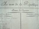 Brevet de Capitaine signé par Garat.. Dominique Joseph Garat (1749-1833) Homme politique et littérateur, ministre de la Justice puis de l'Intérieur ...