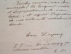 """Querelle de mathématiciens entre Duporcq et Cesaro.. Ernest Duporcq (1839-0) Ingénieur des télégraphes. Mathématicien, auteur de """"Premiers principes ..."""