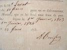 Alexandre Boniface. Reçu pour un abonnement.. Alexandre Boniface (1790-1841) Pédagogue, auteur de nombreux ouvrages.