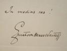 Hesse-Wartegg signe une locution latine.. Ernest Hesse-Wartegg (Von) (1857-1918) Ecrivain et voyageur autrichien.