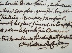 Victorine de Chastenay apprécie un ouvrage de Reinaud.. Victorine Chastenay (de) (1771-1855) Femme de lettres.