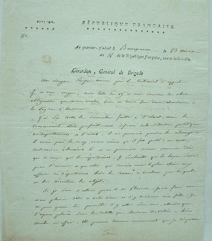 Le général Girardon félicité pour sa Légion d'Honneur.. Antoine Girardon (1758-1806) Général fait commandant de la Légion d'honneur, en juin 1804. Il ...