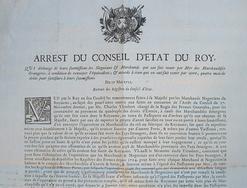 Le Conseil du roi statue sur le négoce maritime..