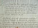Feuquières, gouverneur de Verdun, accorde un passeport sous condition.. Isaac de Pas Feuquières (marquis de) (1618-1688) Lieutenant général, ...