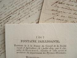 Recherches de fontaines jaillissantes dans les Pyrénées..