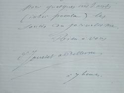 Invitation de Jousset de Bellesme, père de la pisciculture.. Georges Louis Marie Félicien Jousset de Bellesme (1839-1925) Physiologiste et ...