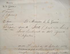 Le général Boulanger nomme un nouveau lieutenant.. Georges Ernest Boulanger (général) (1837-1891) Général. Commandant du corps d'occupation en ...