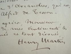 Henry Martin prépare un hommage à Léopold Delisle.. Henry Martin (1852-1925) Archiviste paléographe, administrateur de la bibliothèque de l'Arsenal.