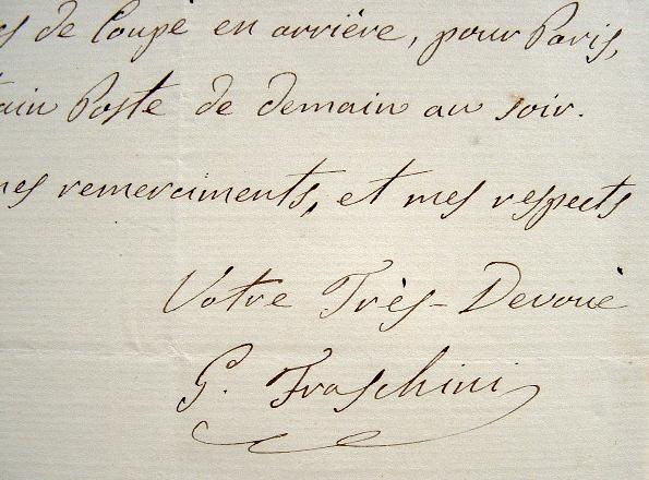 Gaetano Fraschini réserve un billet de train.. Gaetano Fraschini (1816-1887) Ténor italien. Le théâtre lyrique de Pavie porte son nom.