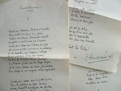 Violent poème polémiste de Christian-Frogé.. René Christian-Frogé (1880-1958) Ecrivain, secrétaire général de l'Association des écrivains combattants, ...