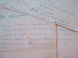 Manuscrit d'une pièce d'Aurélien Scholl.. Aurélien Scholl (1833-1902) Journaliste et chroniqueur, il est également romancier et dramaturge, ...