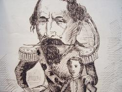 Napoléon III et le prince impérial caricaturés..