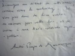 André Pieyre de Mandiargues accablé de travaux littéraires.. André Pieyre de Mandiargues (1909-1991) Poète et écrivain lié aux Surréalistes, prix ...