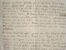 Jacques Daniel Martine écrit à Arthus Bertrand.. Jacques Daniel Martine (1762-0) Journaliste et critique littéraire au Mercure de France.