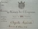 Frais de copie de la 16e messe de Lesueur.. Jean-François Le Sueur (1760-1837) Compositeur et musicographe, surintendant de la musique du roi.
