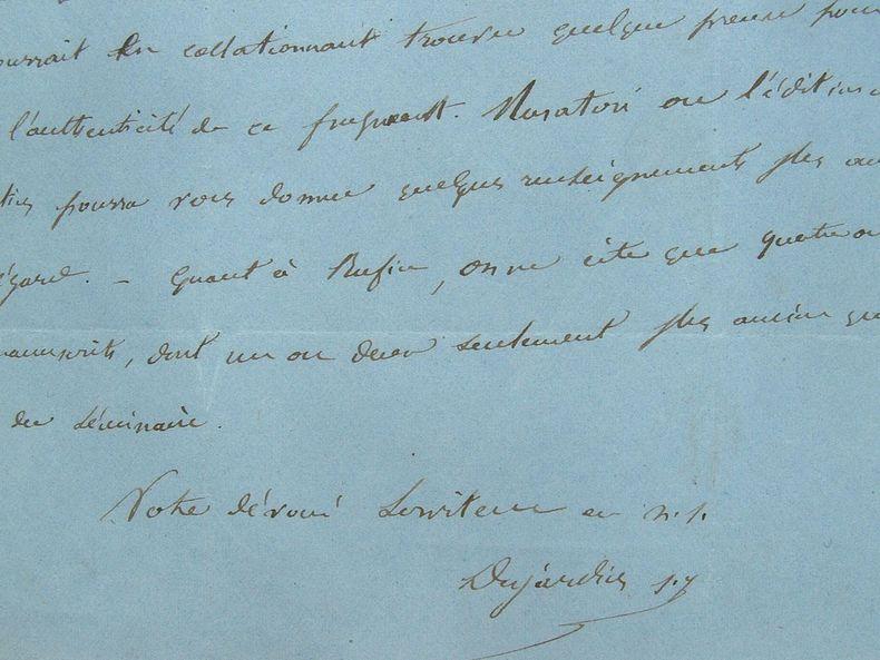 Le Père Desjardins cherche des preuves sur l'authenticité d'un fragment.. Eugène Desjardins (1820-1878) Jésuite, il enseigne l'histoire de l'Eglise à ...