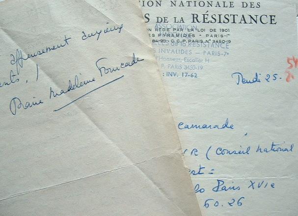 """Marie Madeleine Fourcade se défend d'avoir liquidé les agents """"Turma-Vengeance"""".. Marie Madeleine Fourcade (1909-1989) Résistante, chef du réseau ..."""