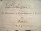 Le 205e anniversaire de Molière célébré à la Comédie française..
