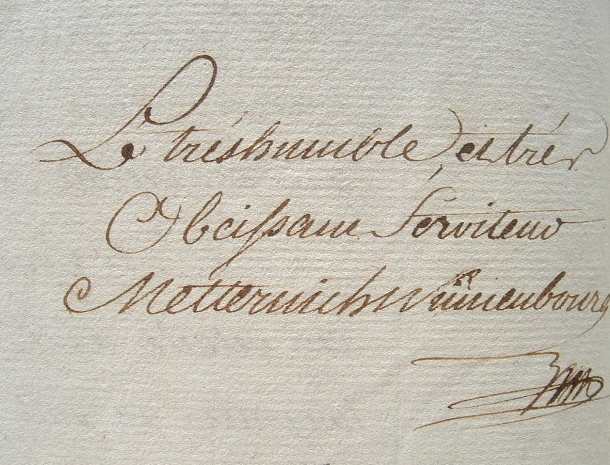 Metternich-Winneburg, prince influent.. François Georges Joseph Metternich-Winneburg (prince de) (1746-1818) Homme d'Etat et diplomate autrichien, ...