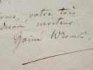 Une communication urgente du mystique Hoëne-Wronski.. Joseph Marie Hoëne-Wronski (1778-1853) Mystique et mathématicien polonais, il propage sa ...