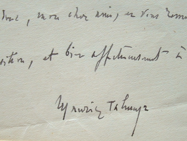Manuscrits de Maurice Talmeyr pour l'Action Française.. Maurice (dit Coste) Talmeyr (1850-1930) Ecrivain et journaliste royaliste.