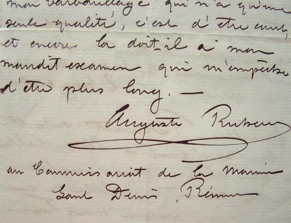 Lettre du commissaire de la marine de Saint-Denis de la Réunion..